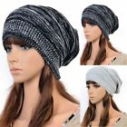 Unisex Women Men Knit Baggy Beanie Beret Winter Warm Oversized Ski Cap Hat NEW