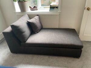 Minotti chaise lounge (brown/wool)