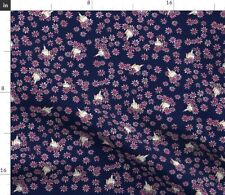 Middle Finger Flower Flowers Floral Feminist Fabric Printed by Spoonflower Bty