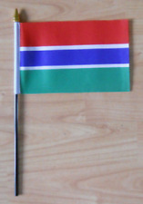Gambia Country Hand Flag - small