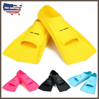 XS-XL Adults Silicone Swim Snorkeling Training Fins Swim Diving Flippers Youth