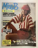 Vintage Burda Miss B Sewing Pattern Magazine Summer 2/88 sizes 8 to 16 1988