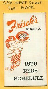 1976 Reds Schedule Frisch's Big Boys