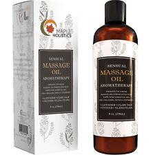 Sensual Massage Oil - 8 Oz | Lavender Aromatherapy & Therapeutic | 100% NATURAL