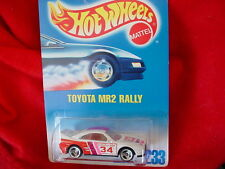 HOT WHEELS #233 TOYOTA MR2 RALLY WITH 3 SPOKE RIMS FREE USA SHIPPING