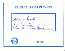 England Cricket TREVOR BAILEY and DOUG INSOLE Signed England Test Players Card