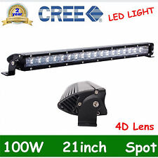100W SPOT 20/21INCH Single Row CREE LED OFFROAD Light Bar UTE 4D OPTICALS SUV OF