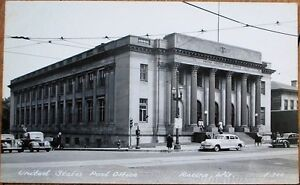 Racine, WI 1940s Realphoto Postcard: United States Post Office - Wisconsin Wis