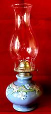 Vintage Kaadan Ltd. Blue Day Lily Flower Oil Paraffin Lamp NEVER USED