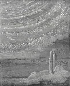 CRYSTALLINE HEAVEN - PARADISO 1903 Gustave Doré ANTIQUE ENGRAVING