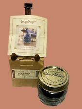 Longaberger Blue Ribbon Candle Jar New