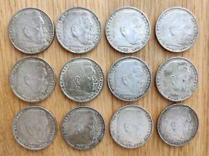 5 Reichsmark 1935 1936 1937 1938 Silbermünzen Deutsches Reich Hindenburg HK