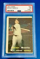 1957 Mickey Mantle Topps #95 PSA Graded New York Yankees See Pictures