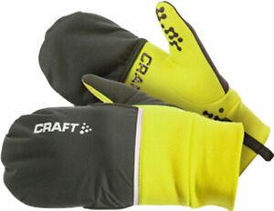 Craft Hybrid Weather Full Finger Gloves   Yellow/Black   L
