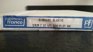 PAQUET de 500 Feuilles PAPIER FIN PELURE BLANC SOIE 30 G Format 21X29,7 cm ou A4