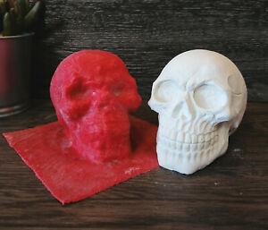Handgemachte Latexgießform Gießform Betongießform Schädel Totenkopf Skull (134)