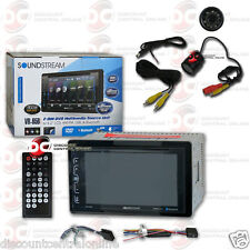 "SOUNDSTREAM VR-65B 2DIN 6.2"" TOUCHSCREEN DVD BLUETOOTH STEREO FREE REAR CAMERA"