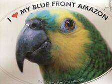 ON SALE! Blue Front Amazon Parrot Exotic Bird Vinyl Decal Bumper Sticker