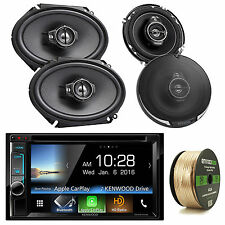 """Double Din DDX6703S Bluetooth DVD CD Stereo, Kenwood 6x8"""" and 6.5"""" Speaker Set"""