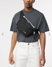 RRP £30 - EASTPAK BANE LARGE BUM BAG Black Canvas Waist Pack Mens - NEW