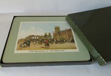 Vintage set of 6 placemats - historical paintings of Australian cities - VGC