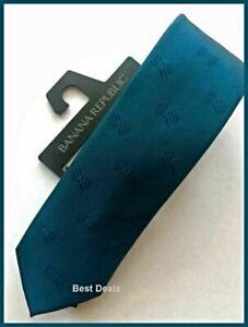 Banana Republic Mens Slim Teal Neck Tie Novelty Bow Tie Print Brand New $40