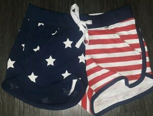 Girls justice patriotic shorts size 10 new red/wh/blue
