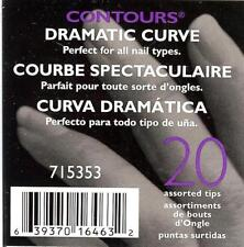 SALLY BEAUTY SUPPLY CONTOURS 20 DRAMATIC CURVE ARTIFICIAL NAIL TIPS 715353
