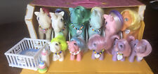 1983 My Little Pony Mlp Stable 2 Carry Case, 6 Ponies; 5 baby + Accessories G1