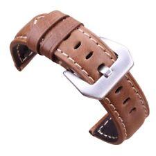 Retro Genuine Leather Watch Strap Men Wrist Band Soft Belt Metal Pin Buckle