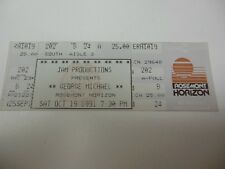 1991 GEORGE MICHAEL CONCERT TICKET CHICAGO ROSEMONT HORIZON RIP GEORGE GOOD COND