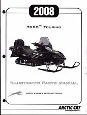 2008 ARCTIC CAT T660 TOURING  SNOWMOBILE PARTS MANUAL P/N 2258-181  (213)