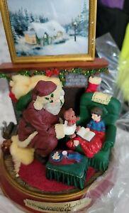 Thomas Kinkade Light Up Holidays Santa Claus Figurine The Blessings of Christmas