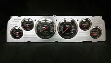 1964 1965 1966 CHEVY TRUCK 6 GAUGE DASH CLUSTER BLACK