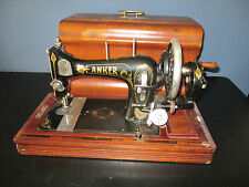 Beautiful Art Nouveau ANKER Bielefeld Sewing Machine in wooden case
