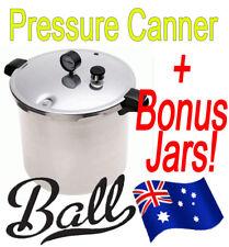 1 x Presto 21 litre Pressure Canner / Cooker + 6 GREEN Ball Mason Wide Quart Jar
