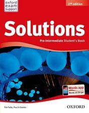Solutions. Pre-intermediate. Students Book. NUEVO. Envío URGENTE (IMOSVER)