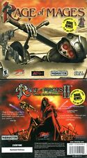 Rage of Mages and Rage of Mages 2 Necromancer - Brand New and Sealed - PC RPG