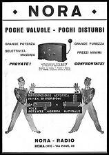 PUBBLICITA' 1931 NORA RADIO S 3 W  VALVOLE SCHERMATE SOLDATINI MUSICA VOCE