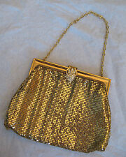 Whiting & Davis 1960s Vintage Whiting And Davis Gold Metal Mesh Handbag Or Clutch oB3BOCaHJ