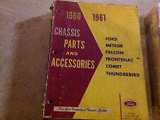 1960 1961 MERCURY METEOR & COMET Chassis Parts & Accessories Catalog Manual CDN