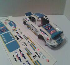 Calcas al agua escala 1/32 Porsche 911 Rothmans Rally Principe 1982 Beni Fernánd