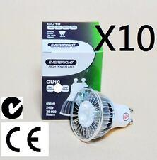 10 X GU10 240V 6W LED Cool White Downlight -- Free Postage