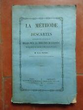 La méthode de Descartes ,regles pour la direction de l'esprit  G-A PATRU  1852