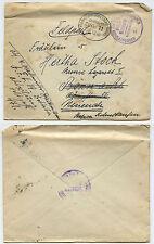 35541 - Bahnpoststempel Frankfurt-Karlsruhe-Basel, Zug 11, 11.12.1916 - Feldpost
