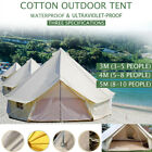 4M Large Bell Tent Glamping Camping Tent Yurt Cotton Canvas Hunting Yurt Tents