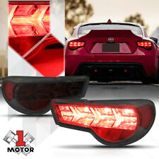 Chrome/Smoke *SEQUENTIAL RED SIGNAL* Tail Light Lamp for 13-19 Scion FRS/86/BRZ