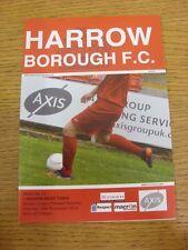 30/11/2013 Harrow Borough v Bognor Regis Town  . Thanks for viewing this item, w