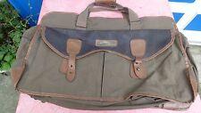 sac de tennis vintage bag Adidas toile marron et simili cuir
