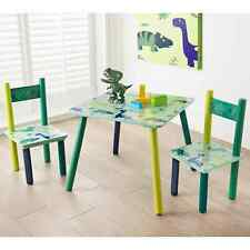 Kids Dinosaur Dino Table & 2 Chairs Wooden Furniture Childrens Bedroom Set